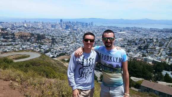 Christian & I with a view from Twin Peaks