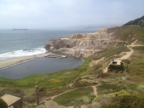 Sutro Baths from above